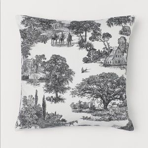 "Toile Cotton Pillow Cover 20""x20"""